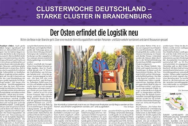 Clusterwochen Deutschland - Starke Cluster in Brandenburg